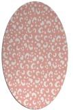 rug #401957 | oval white animal rug