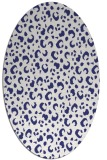 rug #402017 | oval blue animal rug