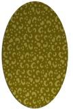 rug #402057   oval light-green animal rug