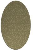 rug #402061 | oval light-green rug