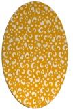 rug #402073 | oval light-orange animal rug