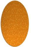 rug #402081 | oval light-orange animal rug