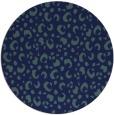 rug #402473   round blue animal rug