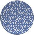 rug #402481 | round blue animal rug