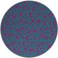 rug #402505 | round blue-green animal rug