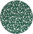 rug #402573 | round blue-green animal rug