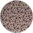 rug #402597 | round pink rug