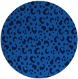 rug #402609 | round blue animal rug
