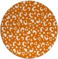 rug #402633 | round orange popular rug