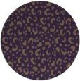 rug #402673 | round purple animal rug