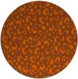rug #402705   round red-orange animal rug