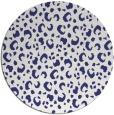rug #402721 | round blue animal rug