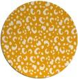rug #402777 | round light-orange rug