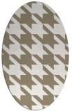rug #405257 | oval white retro rug