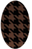 rug #405273 | oval brown retro rug