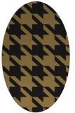 rug #405277 | oval brown rug