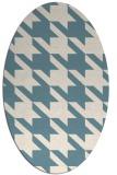 rug #405281 | oval white retro rug