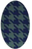 rug #405289   oval blue retro rug