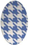 rug #405297 | oval blue popular rug