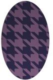 rug #405353   oval purple retro rug