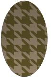 rug #405377 | oval brown retro rug