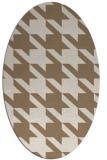 rug #405409   oval beige retro rug