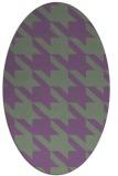 rug #405439 | oval retro rug