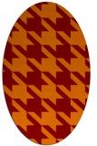 rug #405445 | oval orange rug