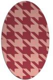 rug #405473 | oval pink retro rug