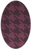 rug #405481   oval purple rug