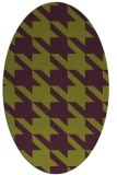 rug #405485 | oval purple retro rug