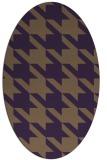 rug #405489   oval purple retro rug