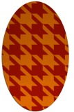 rug #405501 | oval orange retro rug