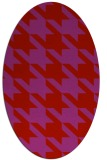 rug #405509 | oval red retro rug