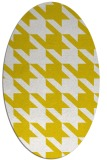 rug #405557 | oval yellow retro rug