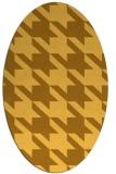 rug #405561 | oval light-orange retro rug