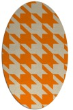 rug #405573 | oval orange retro rug