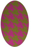 rug #405585 | oval light-green rug