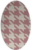 rug #405597   oval pink retro rug
