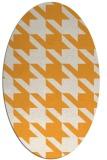 rug #405605 | oval white retro rug