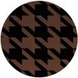 rug #405977 | round black retro rug