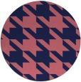 rug #406053 | round blue-violet retro rug