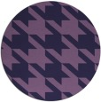 rug #406057 | round purple retro rug