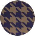 rug #406069   round blue-violet retro rug