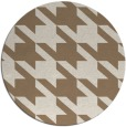 rug #406113 | round mid-brown retro rug