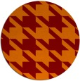 rug #406149 | round red-orange popular rug