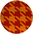 rug #406205   round orange retro rug