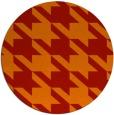 rug #406205 | round red retro rug