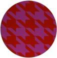 rug #406213 | round red retro rug