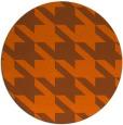 rug #406225 | round red-orange retro rug